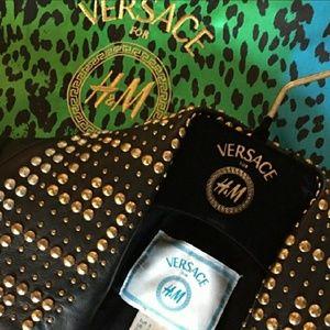 Versace × H&m Leather biker Jacket